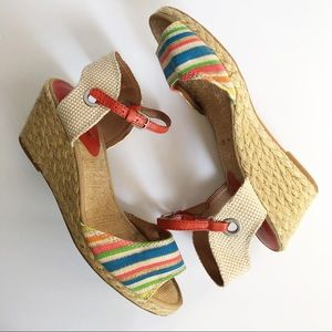 Lucky Brand Kendra Espadrille Wedge Sandals 10